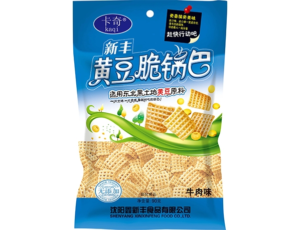 90g Xinfeng crispy rice crispy with soybeans-Beef flavor