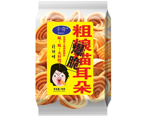 72g coarse food cat ears-Barbecue flavor