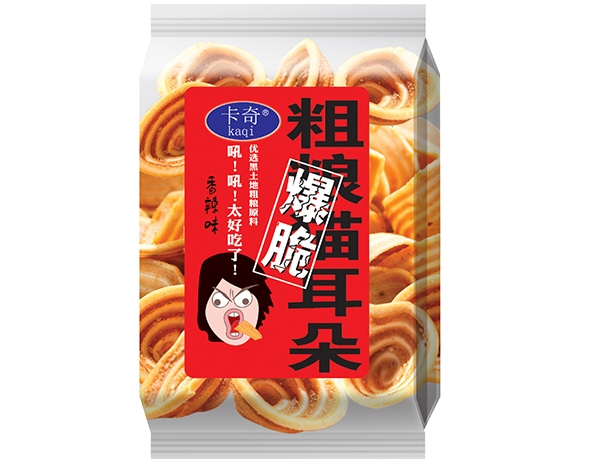 Hand wrapped coarse food cat ears-Spicy taste
